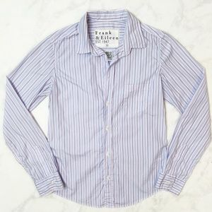 Frank & Eileen Barry Striped Button Down Shirt